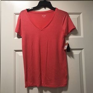 Mudd Everyday Tee - Coral Pink - Super Soft!!